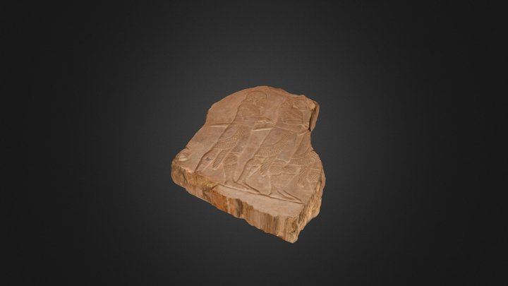 Neo-assyrian relief from Nineveh, Iraq 3D Model