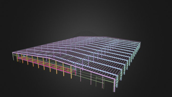 Project 3 - Steel Structure Shed 3D Model