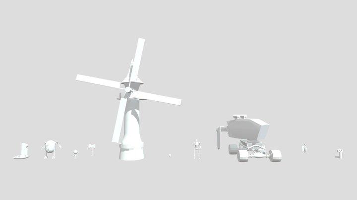 XYZ school. HM Blocking 3D Model
