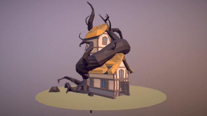 Fantasy House (Low Poly) 3D Model