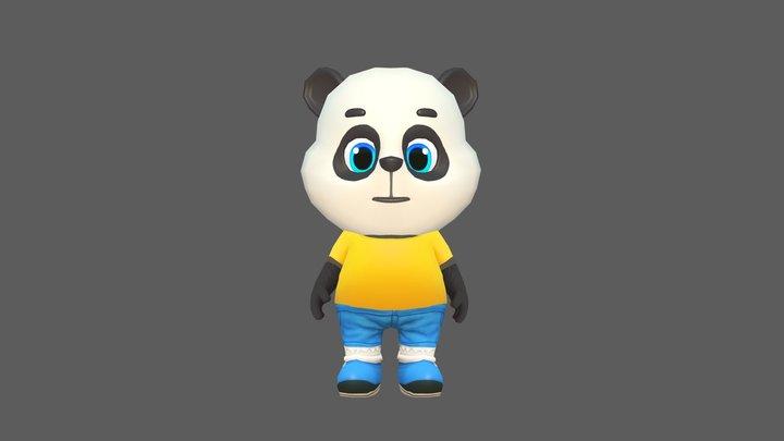 Panda Bear Animated Rigged 3D Model