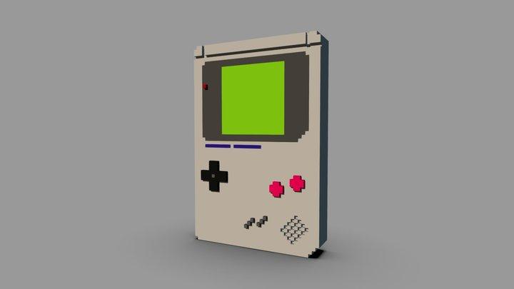 Voxel Game Boy 3D Model