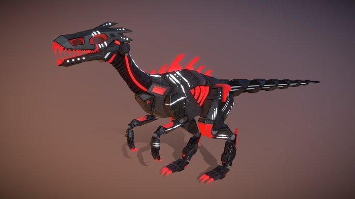 Masiakasaurus FINAL (Robot Raptor) Game Textures 3D Model