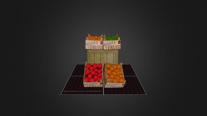 Examen 3D Prop FruitCrate 3D Model