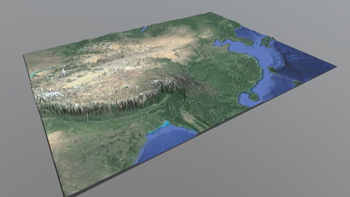 3D立體中國地圖 3D Model