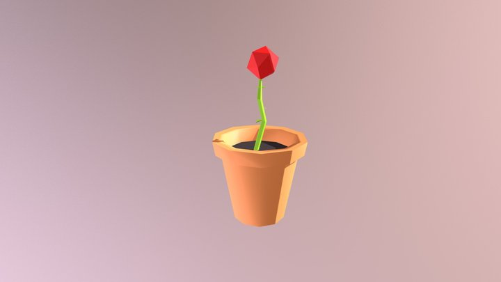 Small Potted Plant - Household Props Challenge 3D Model