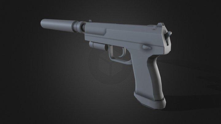 USP-based Pistol [Untextured] 3D Model