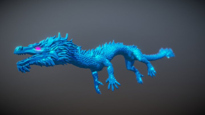 Space Dragon flight 3D Model