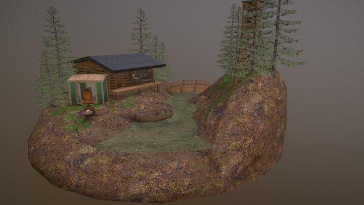 Forest Loner Scene 3D Model