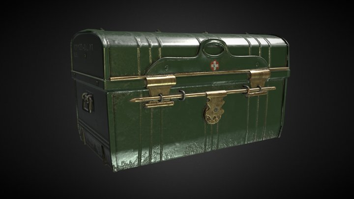 Military Medical Chest 3D Model