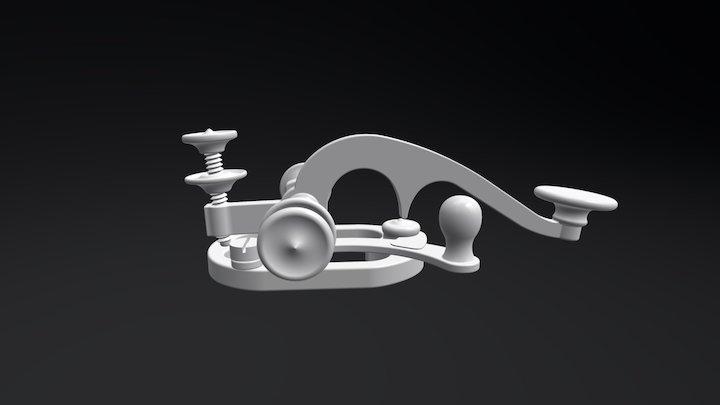 19th Century Telegraph Key 3D Model