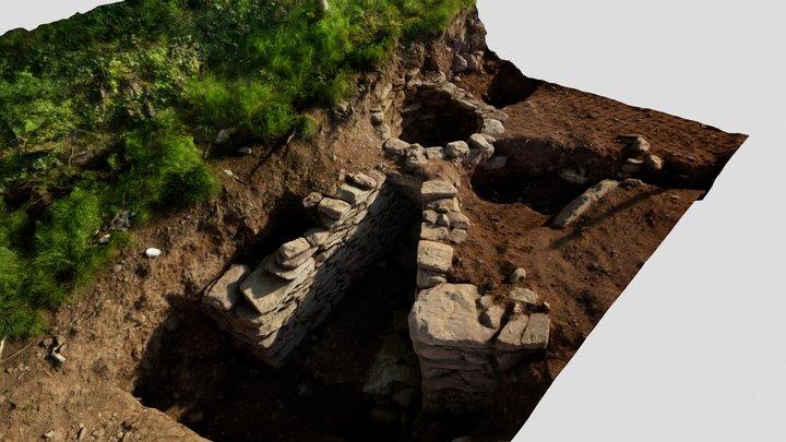 Coolyhane 4 - Lime kiln excavation 3D Model