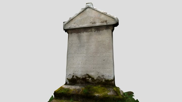 St Catherines Church, Killybegs - Gravestone 3D Model