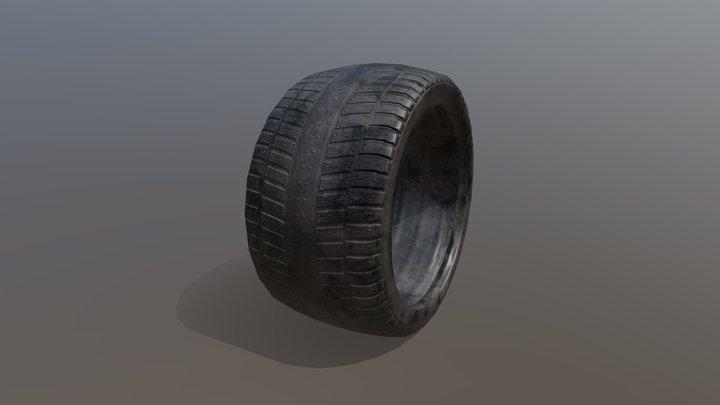 JunkYard Alleyway Tyre 3D Model