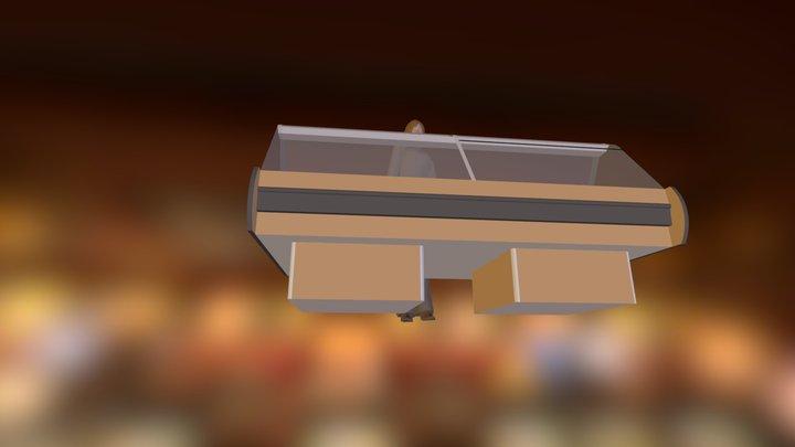 Vitrina De Vidrio Curvo 3D Model