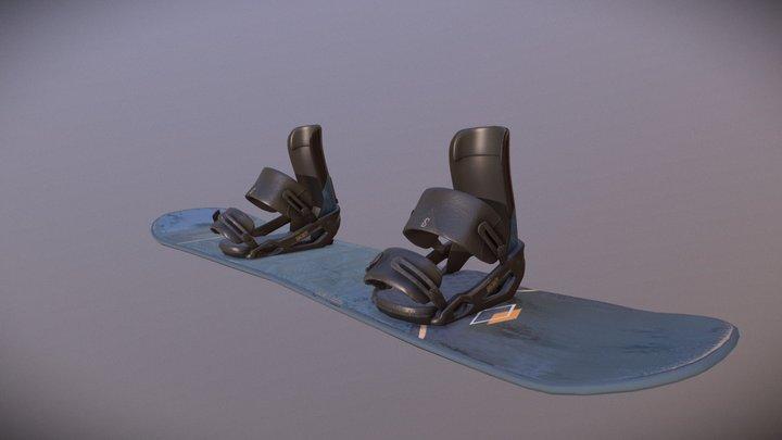 Snowboard Salomon 3D Model