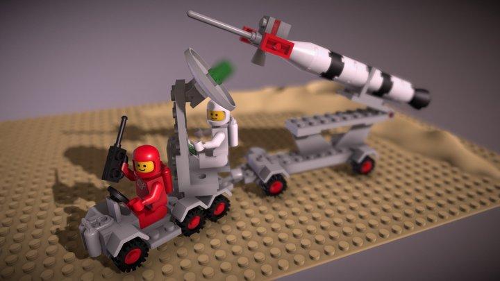 LEGO Classic Space Rocket Launcher 897 3D Model