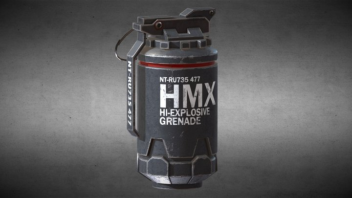 HMX Granade 3D Model