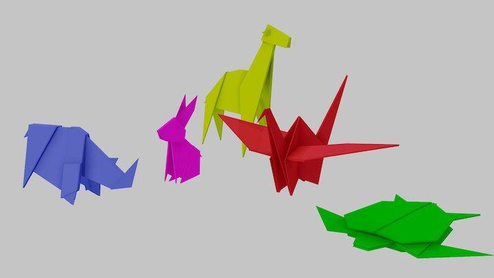 Origami Set 3D Model