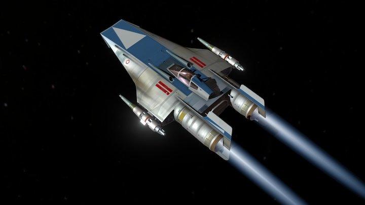 Star Wars Last Jedi A-Wing / R-22 Spearhead 3D Model