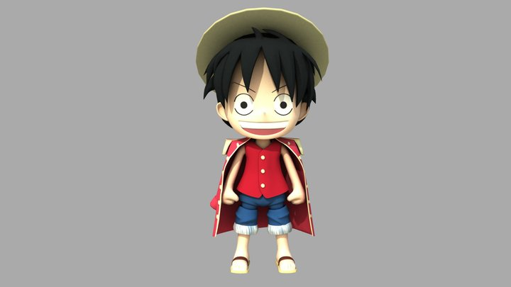 """Monkey D. Luffy's Nendoroid ( From """"One Piece"""") 3D Model"""