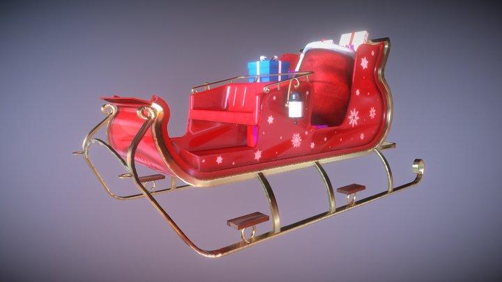 Santa Claus's Sleigh 3D Model