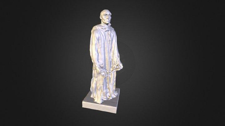 """Monk from """"Les Bourgeois de Calais"""" , Rodin 3D Model"""