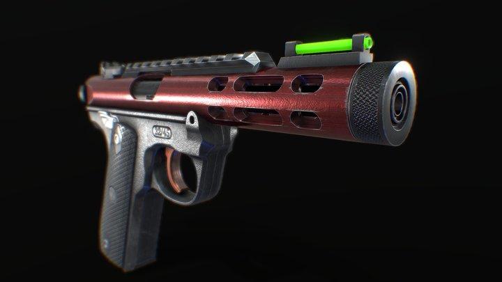 Ruger Mark lV Free Model 3D Model