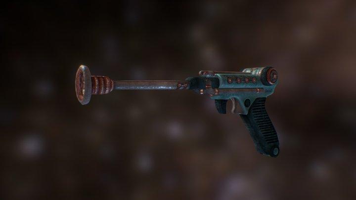 Retro Tesla Gun 3D Model