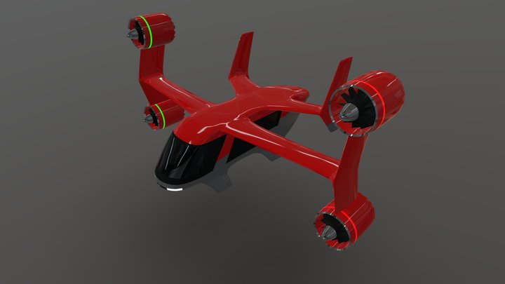 Multi Purpose eVTOL aircraft 3D Model