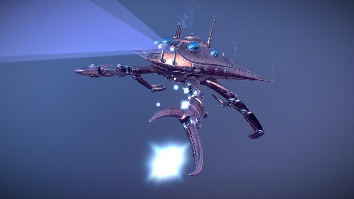 Mechanical crab 3D Model