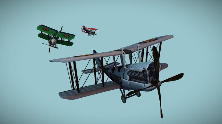 1DAE02_Debbaut_Jamel_GameArtPlane 3D Model