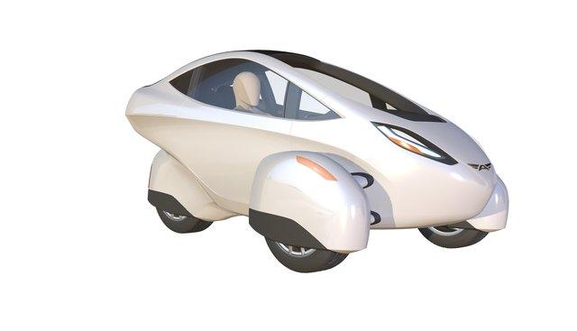 ARCIMOTO 'Kitefin' Concept 3D Model
