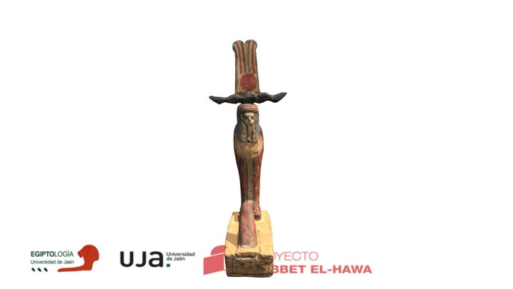 Estatua funeraria Ptah-Sokar-Osiris 3D Model
