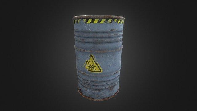 Toxic Oil Barrel 3D Model