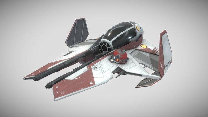 Eta-2 Actis (Jedi Starfighter) - Star Wars 3D Model