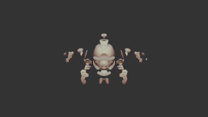 Hammond's Wrecking Ball from Overwatch [E. View] 3D Model