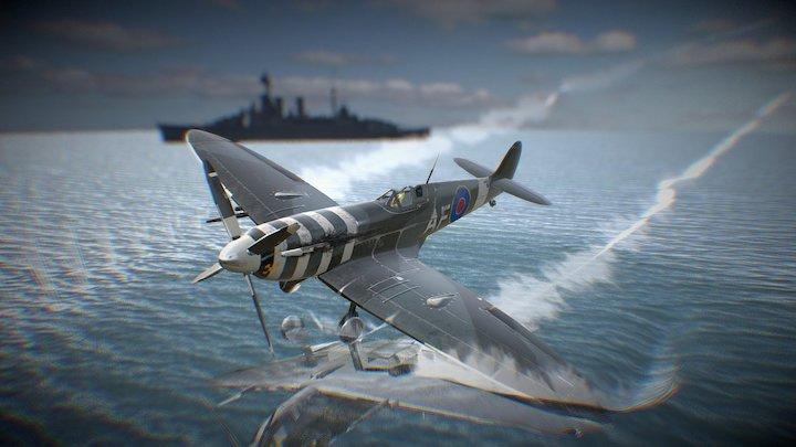 Spitfire Sponged 3D Model