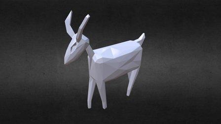 Yellow Goat Trophy 3D Model