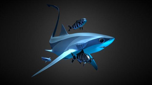 ABZU - Thresher Shark 3D Model