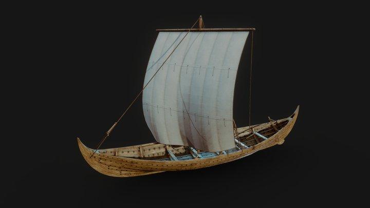 Gislinge Viking Boat 3D Model