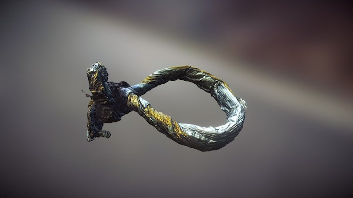 Chocolate warp ring raw scan 3D Model