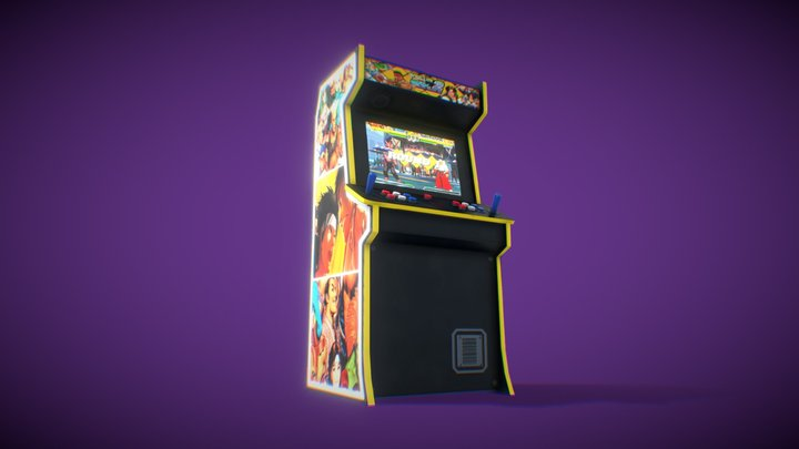 Stylized Arcade Cabinet 3D Model