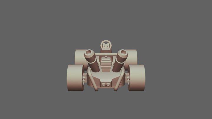 20 11 2019- Kart Crash 3D Model