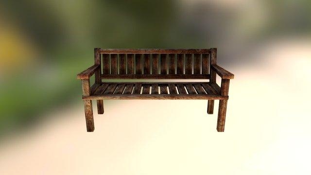 Free Wooden Park Chair 3D Model
