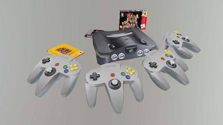 Nintendo 64 Conker´s BFD Box - Low Poly Flat 3D Model