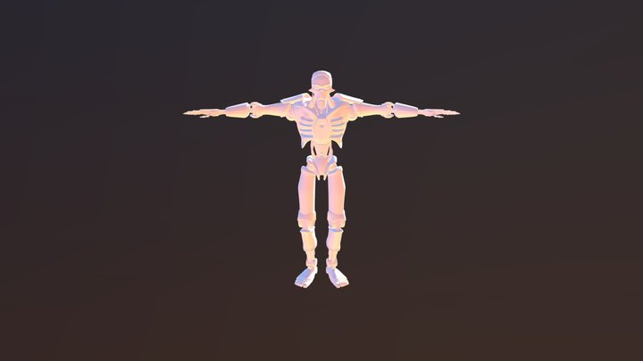 alien necron robot 3D Model