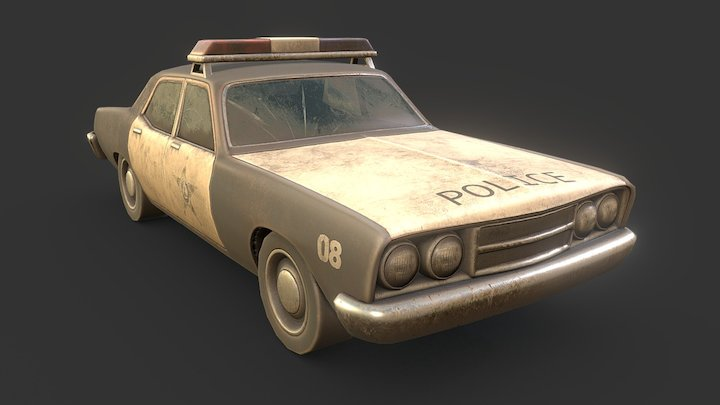 Old Police Car 3D Model