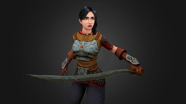 Girl with sword 3D Model