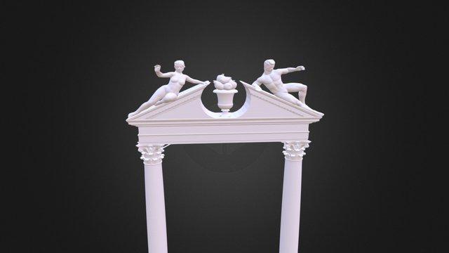Pediment And Order 3D Model